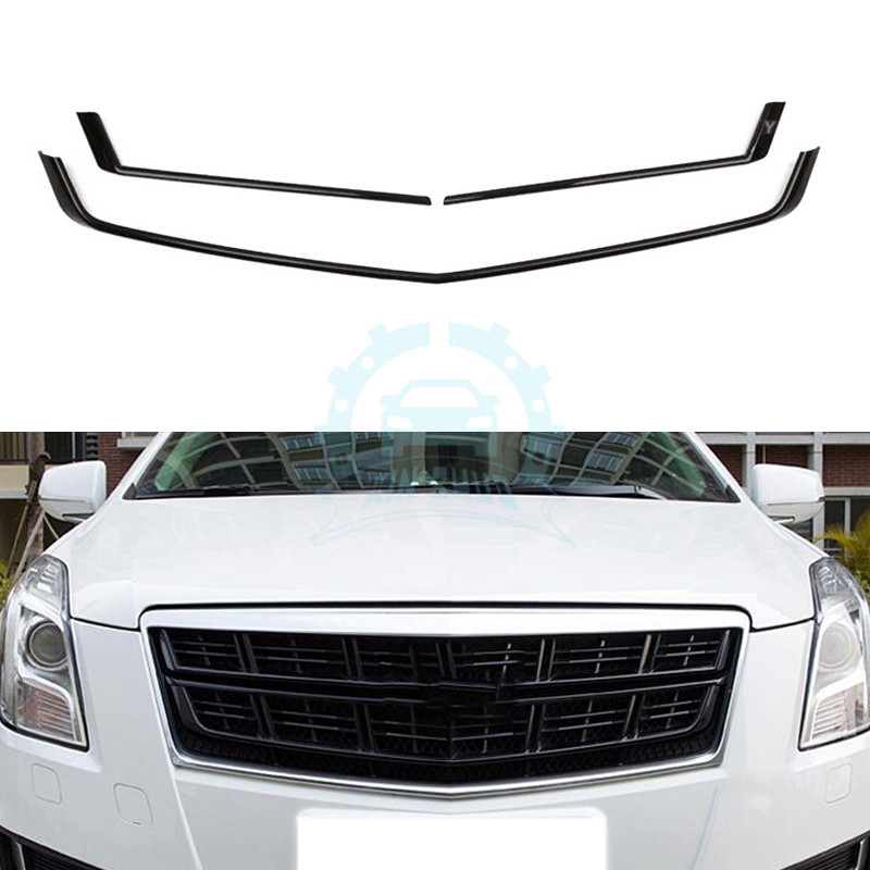ABS Black Front Grille Mesh Cover Trim For Cadillac XTS