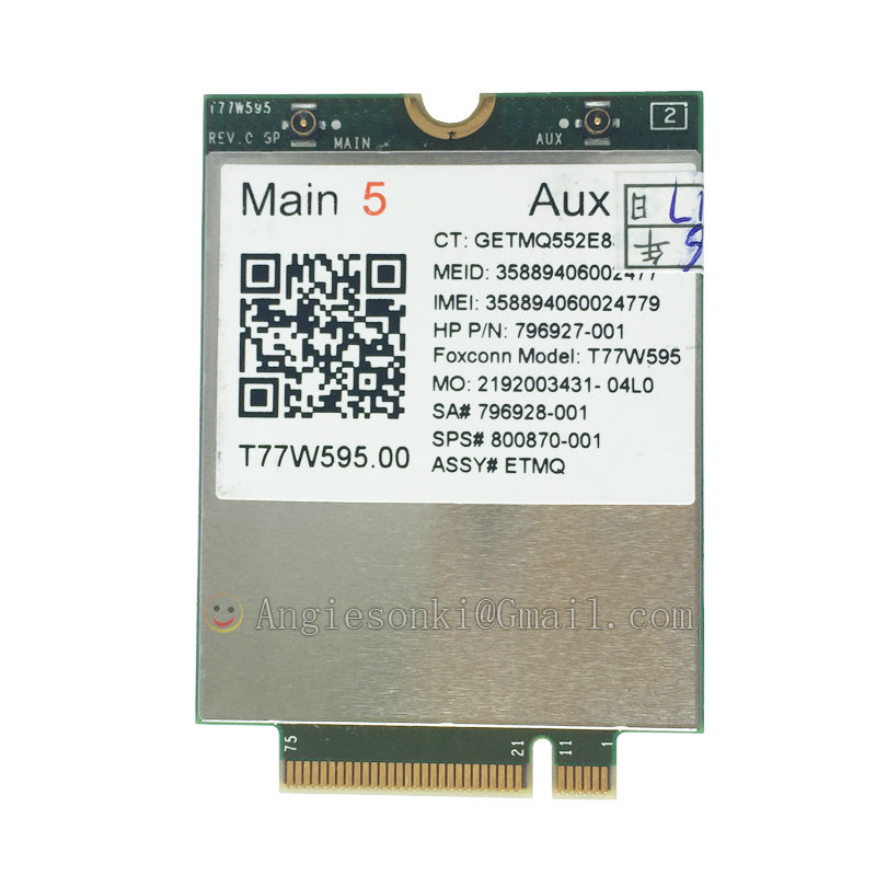 HP lt4120 Snapdragon X5 LTE 800870-001 4G module For EliteBook 820