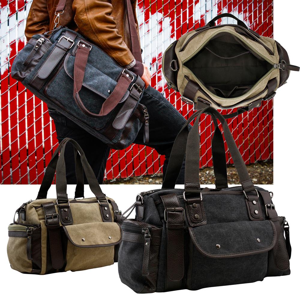 Vintage Large Canvas Men/'s Travel Luggage Shoulder Bag Tote Gym Overnight Duffle