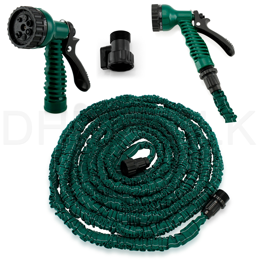 NEW-Latex-25-50-75-100-FT-Expanding-  sc 1 st  eBay & NEW Latex 25 50 75 100 FT Expanding Flexible Garden Water Hose with ...
