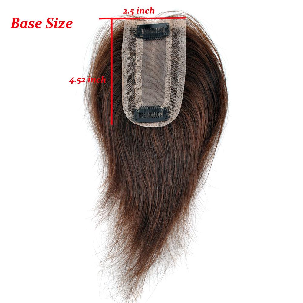 Cw Hair Base 25452 Human Hair Top Piece Toupees Clip In Hair