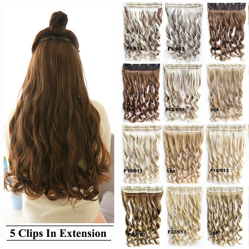 Bado Hair 236 Long 34 Full One Piece Only Wave Curly Clip In