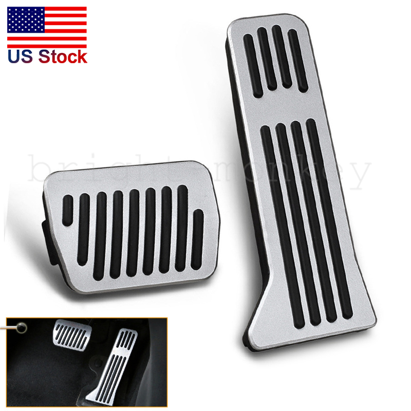for Mazda 2 3 6 CX 3 CX 4 CX 5 CX 9 No Drill Non-Slip Performance Car Rest Pedal Brake and Gas Pedal Covers Accessories Replacement Pedal Aluminum Alloy Pedals Set at with Logo 2Pcs
