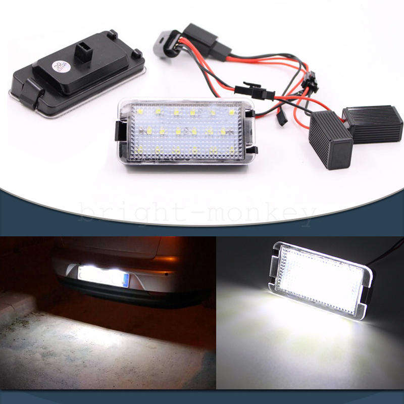 LED CanBus License Licence Number Plate Light Lamp fit Seat Leon Mk2 2005-2012