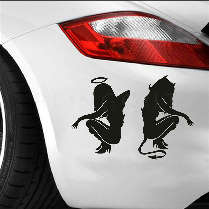 Decal Car Sticker Window Truck Sexy Angel Or Devil Girl