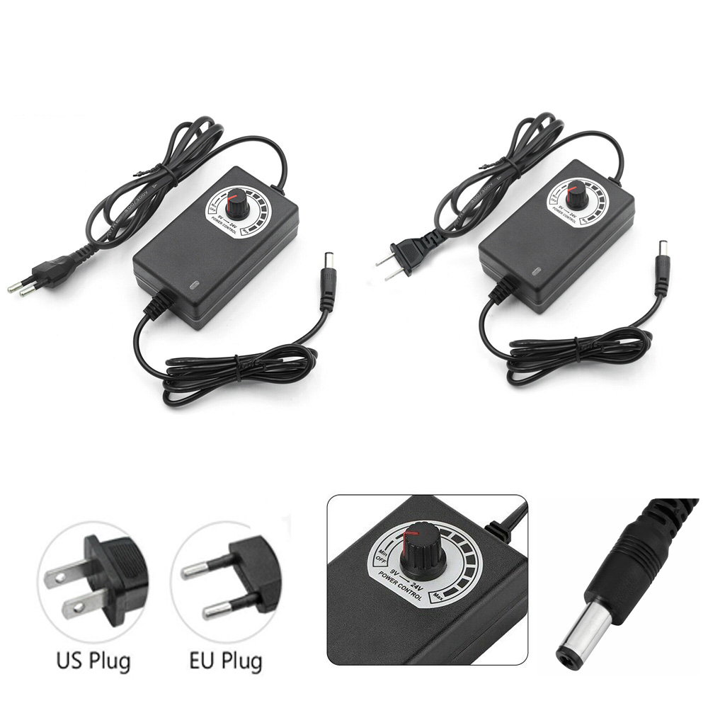 AC//DC 9-24V 3A 72W Adapter Adjustable Plug Power Adapter Motor Speed Controller