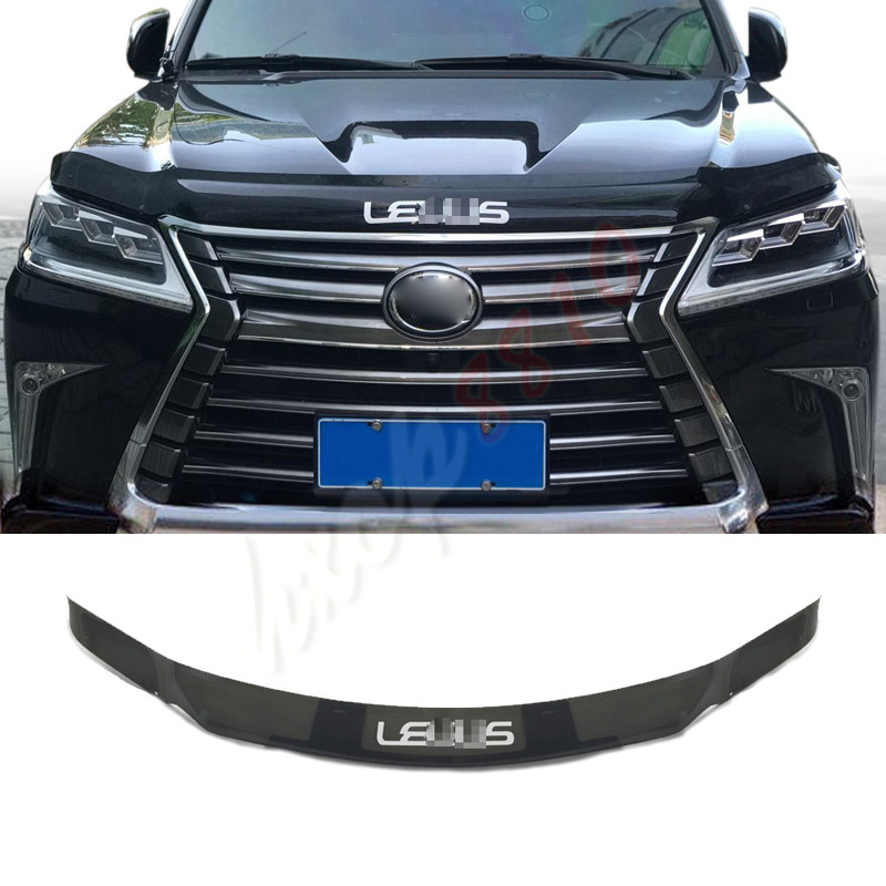 Front Garnish Hood Guard-Protector For Lexus LX570 Brown With 'LEXUS