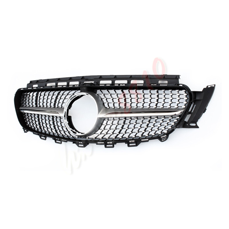 Front Grille Vent Fit For Mercedes Benz B B200 B Class: Diamond Silver Front Vent Grill For Mercedes-Benz E Class