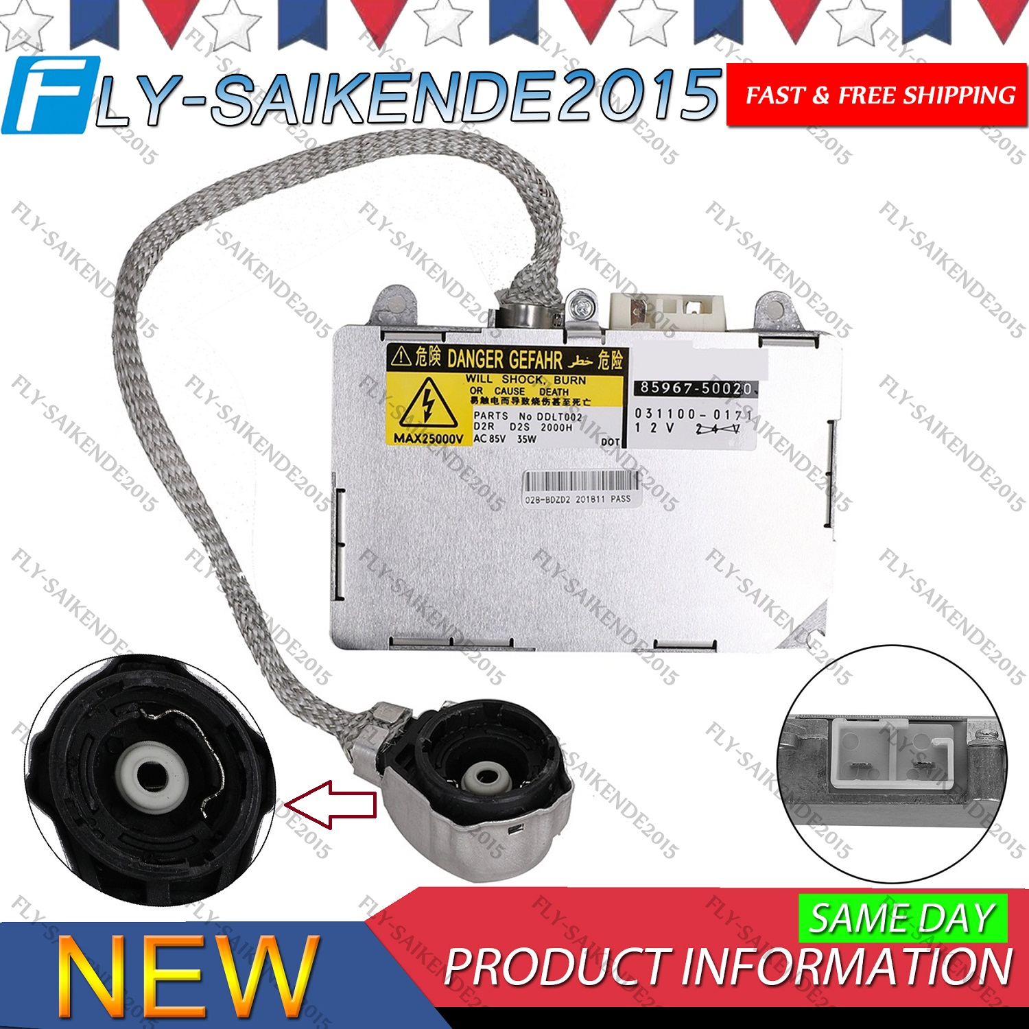 Details about Xenon HID Ballast For Mazda 6 Toyota Lincoln LS Porsche on