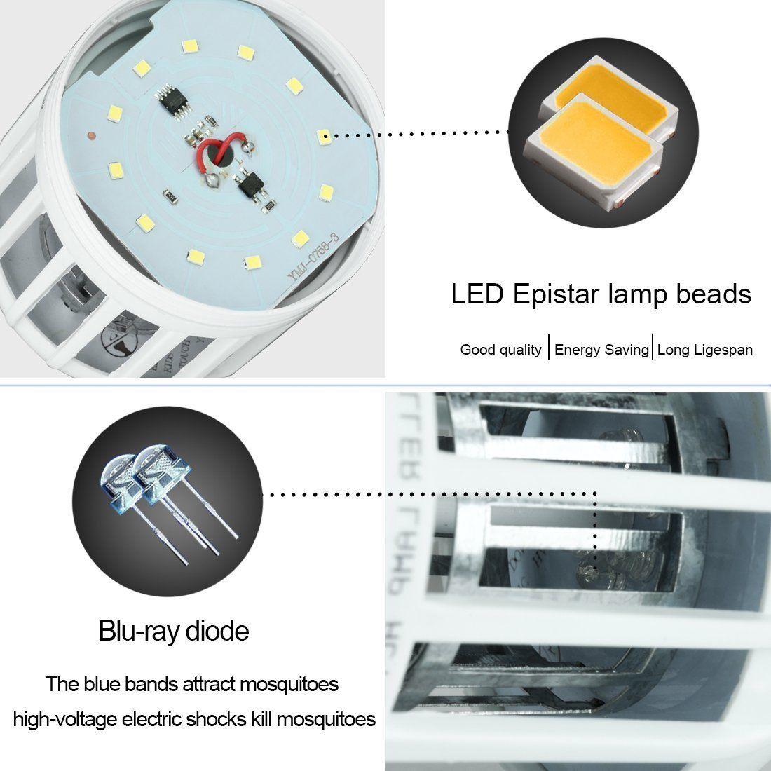 Electronics Mosquito Killer Led Electric Bug Zapper Lamp Anti Electronic Circuits Design Trap