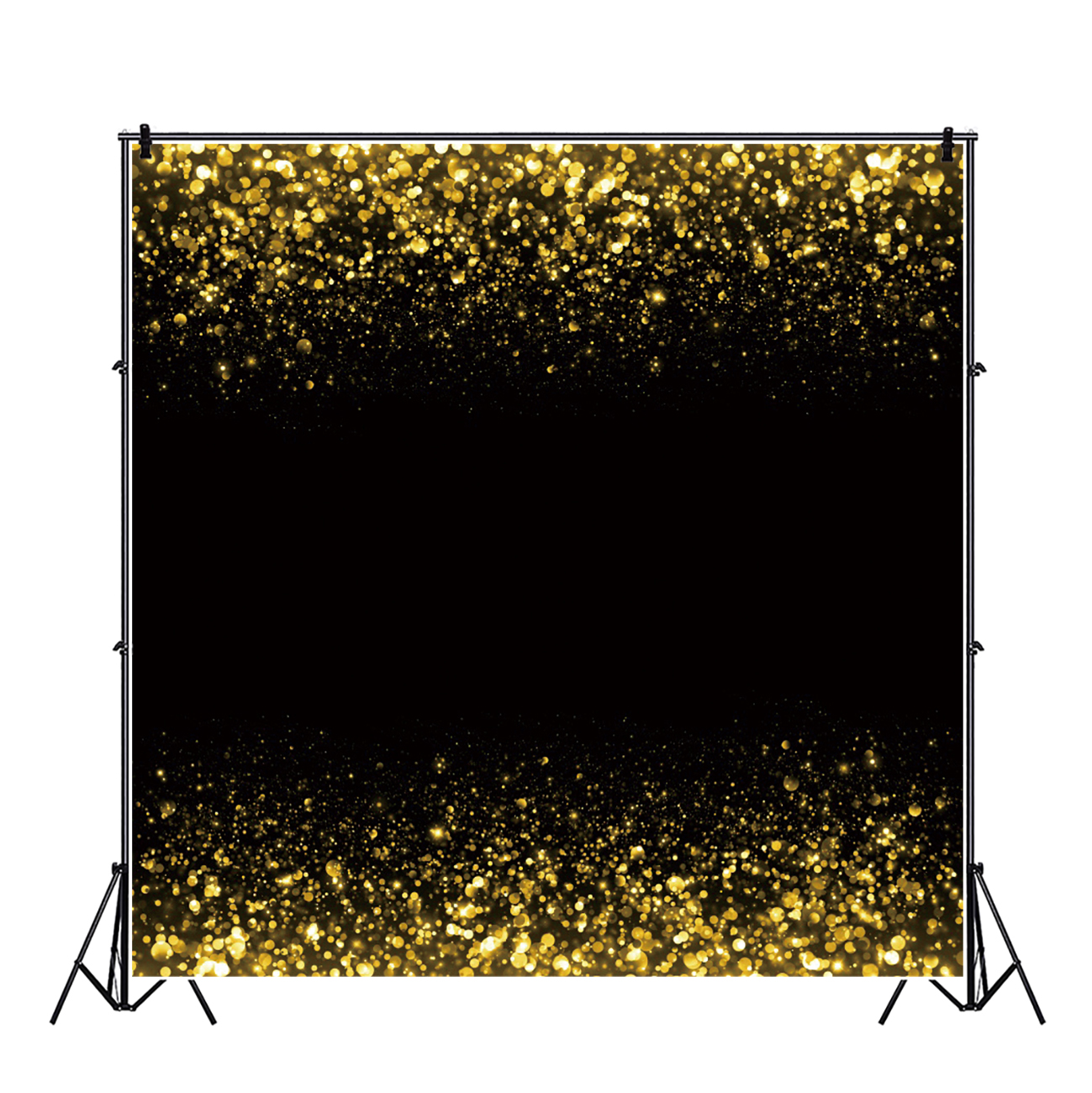 10x10ft Happy Birthday Backdrop Golden Balloons Champagne Glitters Banners Golden Frame Photography Background Wallpaper Decor Birthday Party Girls Children Adults Portrait Studio Props