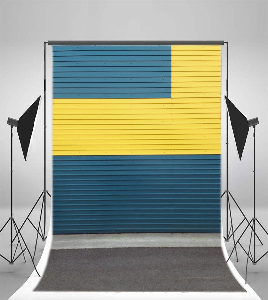 Blue Yellow Contrast Color Door Background 5x7ft Studio Photography ...