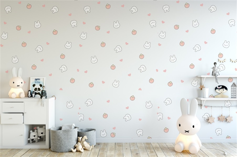 Details About Cute Baby Room Rabbit Wallpaper 8x6ft Photography Backgrounds Vinyl Backdrops