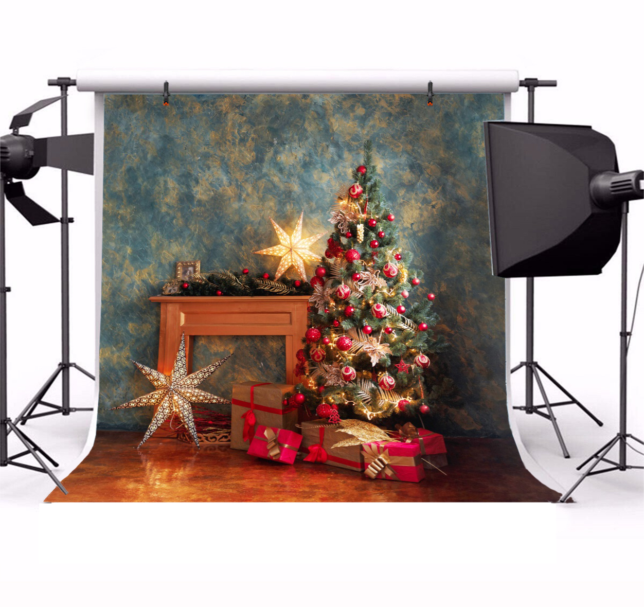 4X6FT-Christmas Tree Photography Background Party Wall Decoration Photo Studio Backdrops
