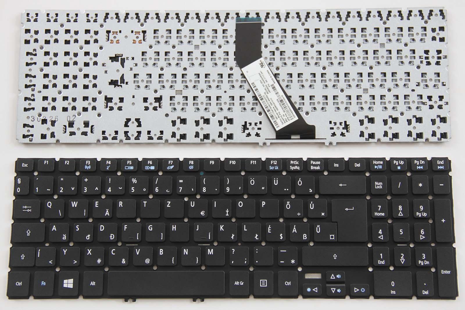 For Acer Aspire E5-575G V5-591G VN7-572 VN7-592 A515-51 Keyboard Nordic Backlit