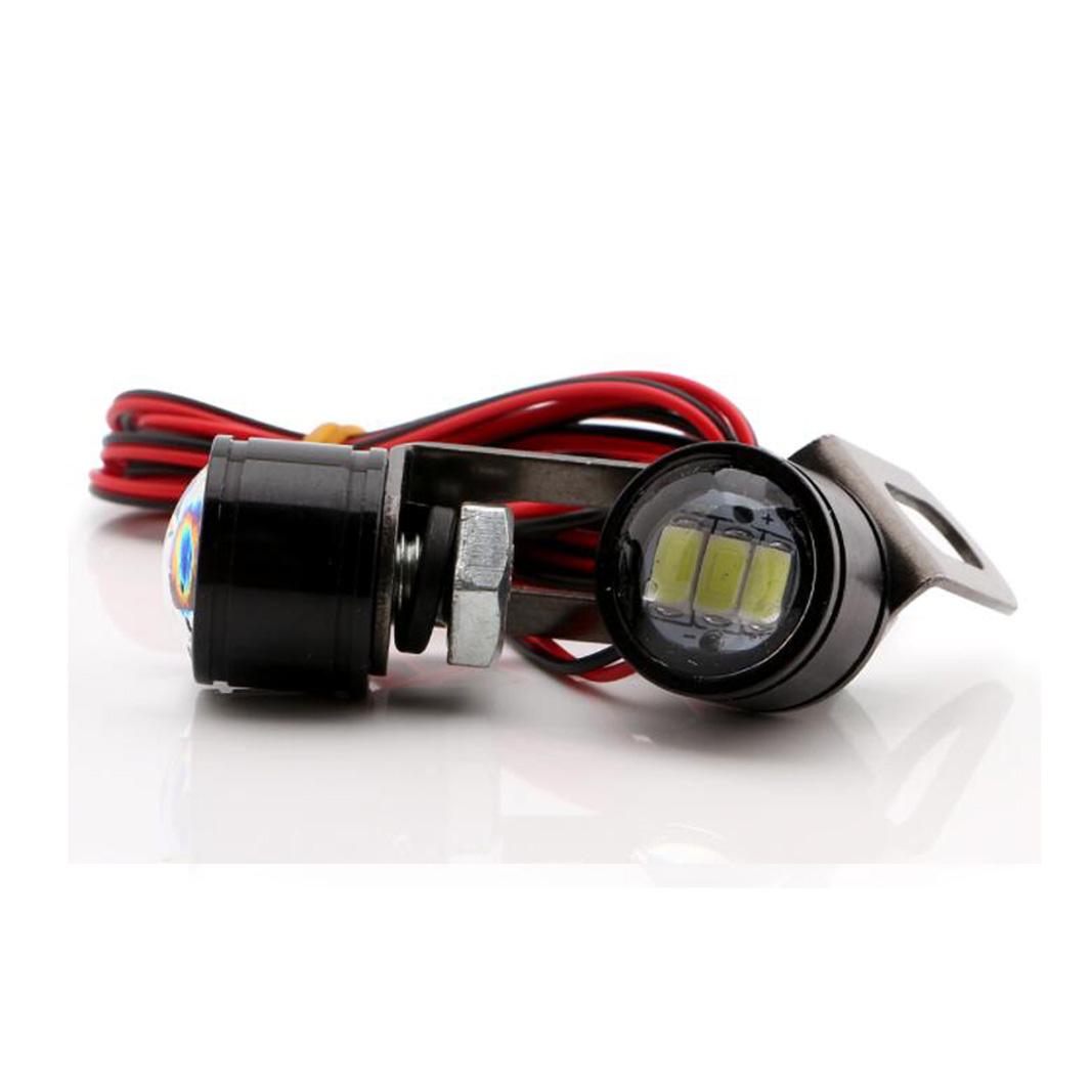 Spotlight Headlight: 2Pcs Motorcycle 12V Spotlight White LED Headlight Daytime