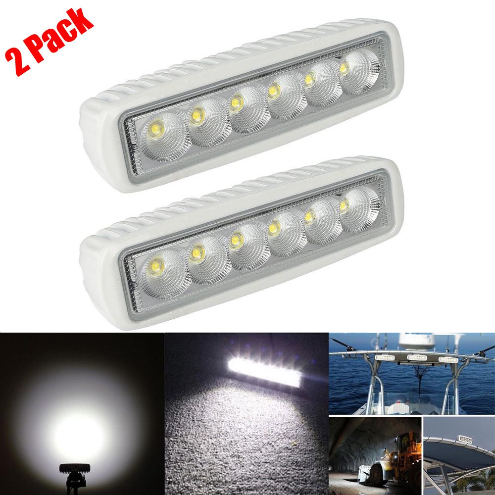 2pcs Marine Spreader Lights LED Light Deck//Mast lights for boat 18W 12V-30V