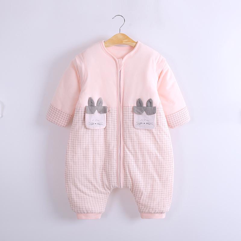 Winter Soft Baby Schlafsack Mit Abnehmbar Langarm Füssen Warm Kinder Schlafanzug