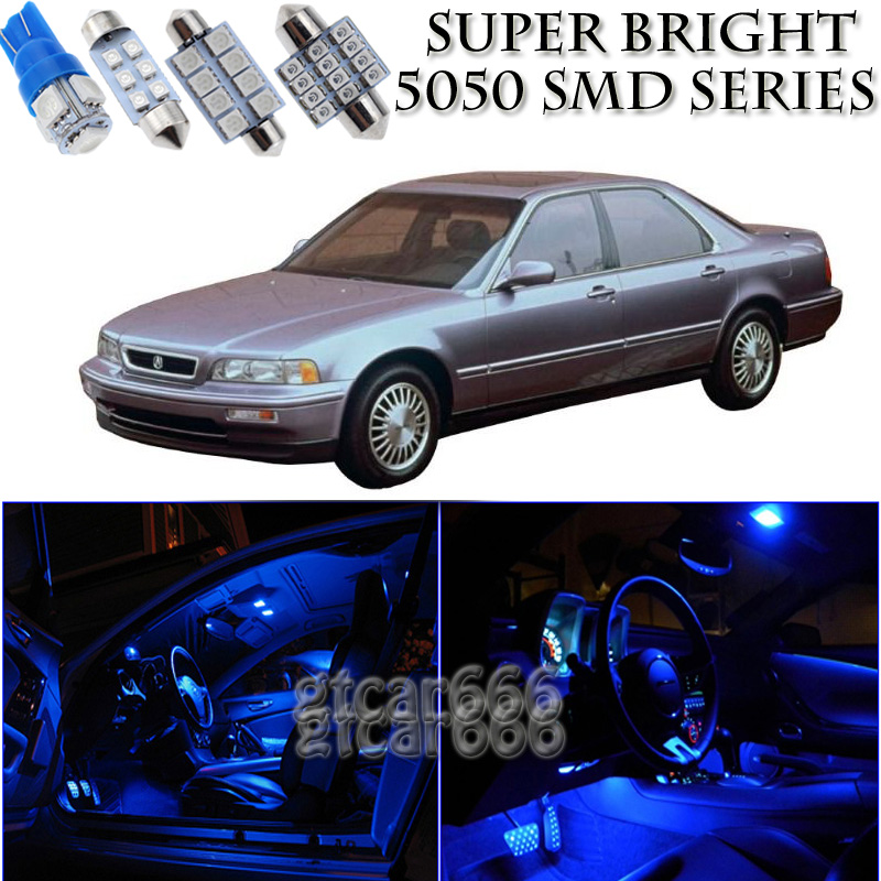 16X Bright SMD Blue LED Interior Light Package Kit For 91