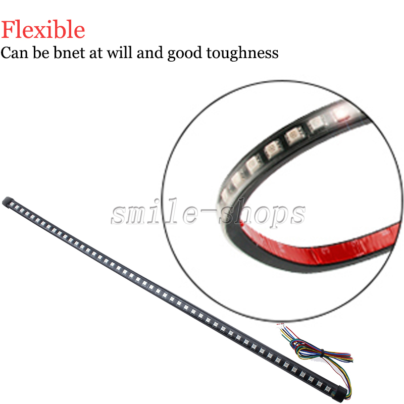 22 Quot 7 Color Rgb Led Knight Rider Strip Light For Under