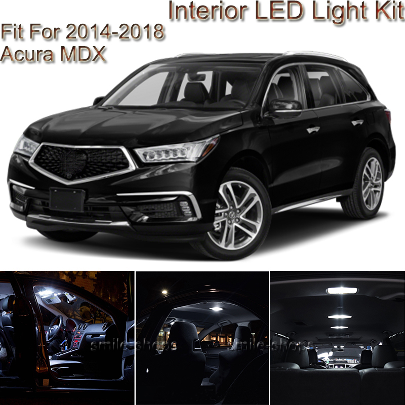 14pcs White Interior LED Light Package Kit Fit For 2014
