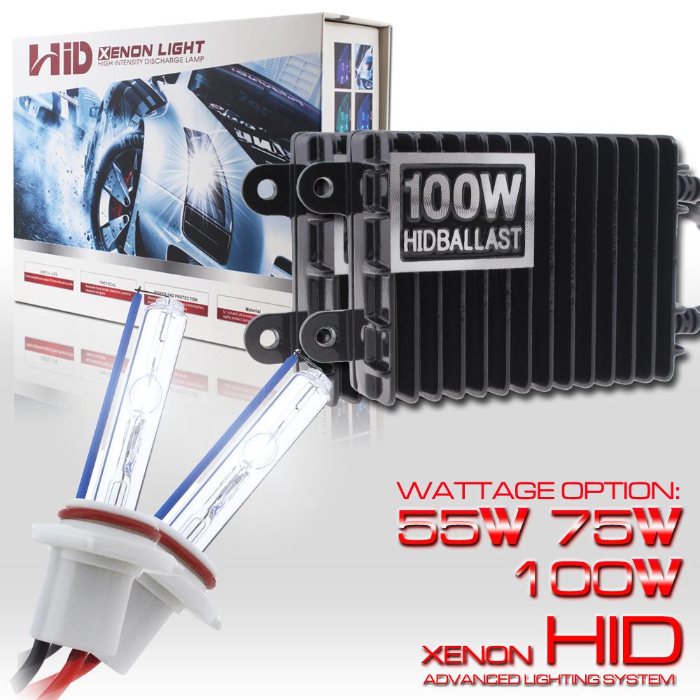 Deluxe AC 100W Xenon Light Headlight Conversion HID Bulb H10//9005//HB3 6K//8K//10K