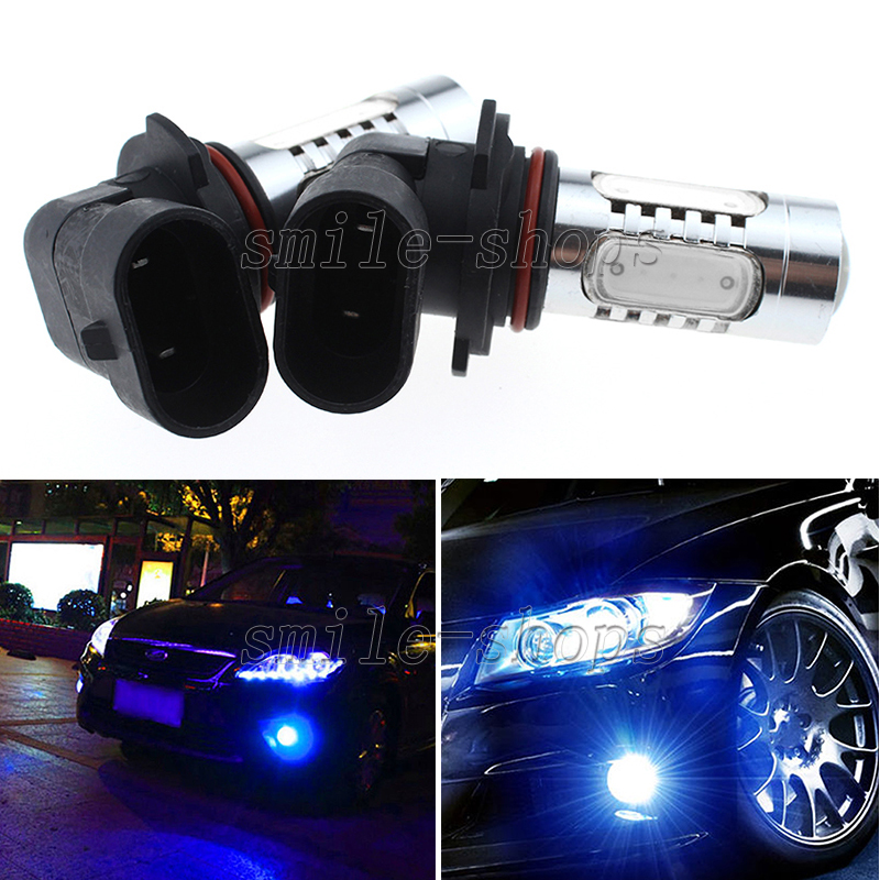 2pcs Blue 9006 Hb4 High Power 7 5w Led Projector Bulbs For Car