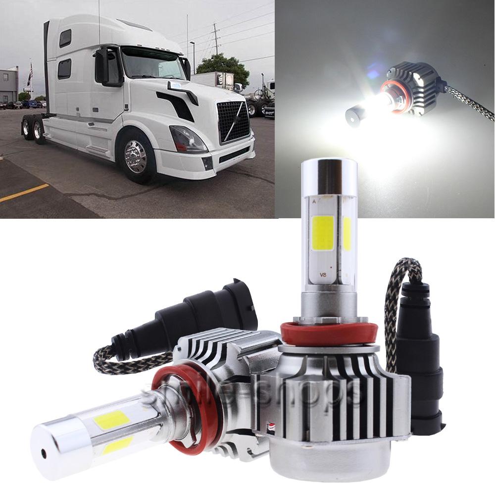 H11 6000K LED Headlight For Volvo 04-15 VN VNL VNM Truck 300 430 630 670 730 780