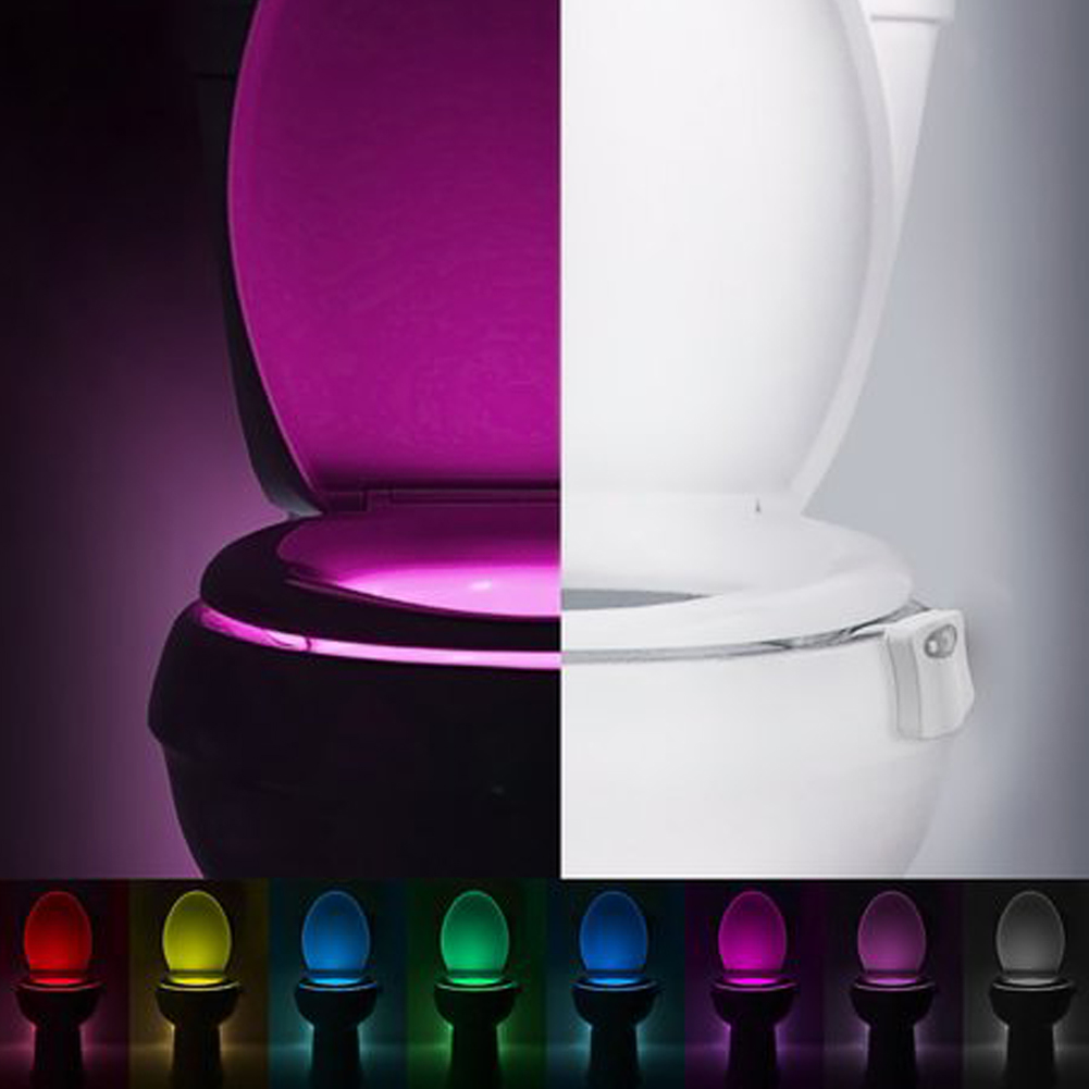 8 colors led toilet bathroom night light human motion activated seat image is loading 8 colors led toilet bathroom night light human mozeypictures Image collections