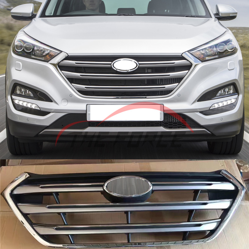 Chrome Front Mesh Radiator Grill Grille Replace For Hyundai