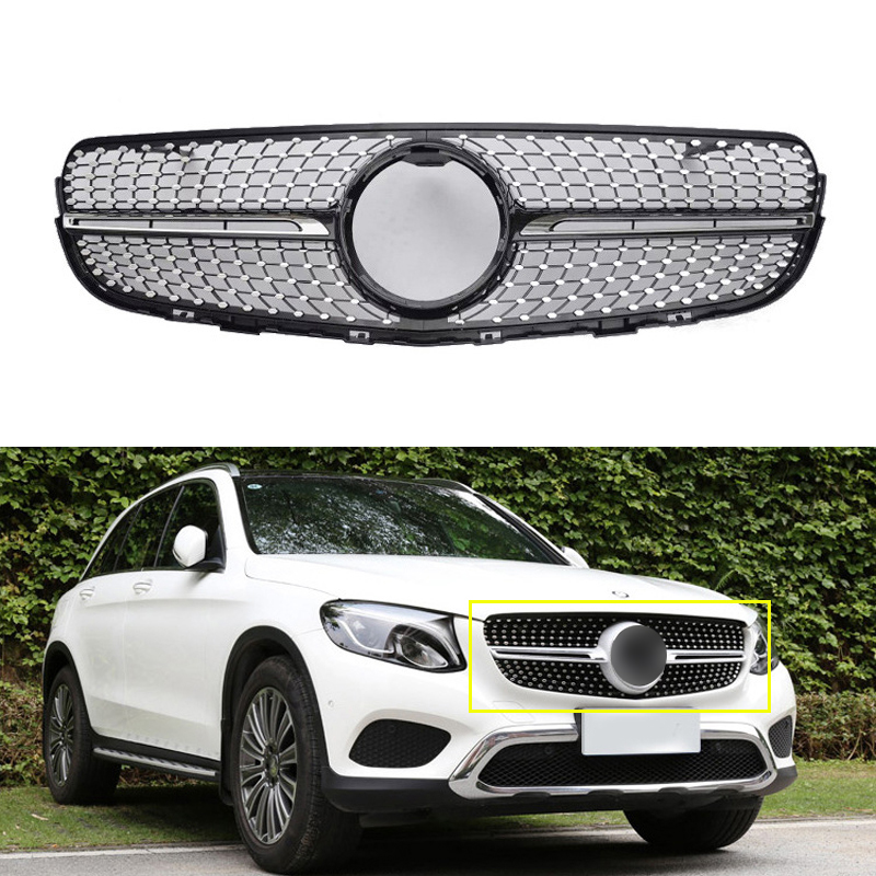 Front Grille Vent Fit For Mercedes Benz B B200 B Class: Black Front Bumper Mesh Vent Grille Fit For Mercedes GLC