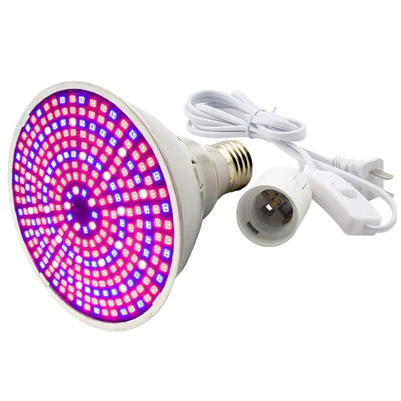 LED Plant Grow Light Bulb 60//126//200//260LED Full Spectrum Lighting Growth Bloom