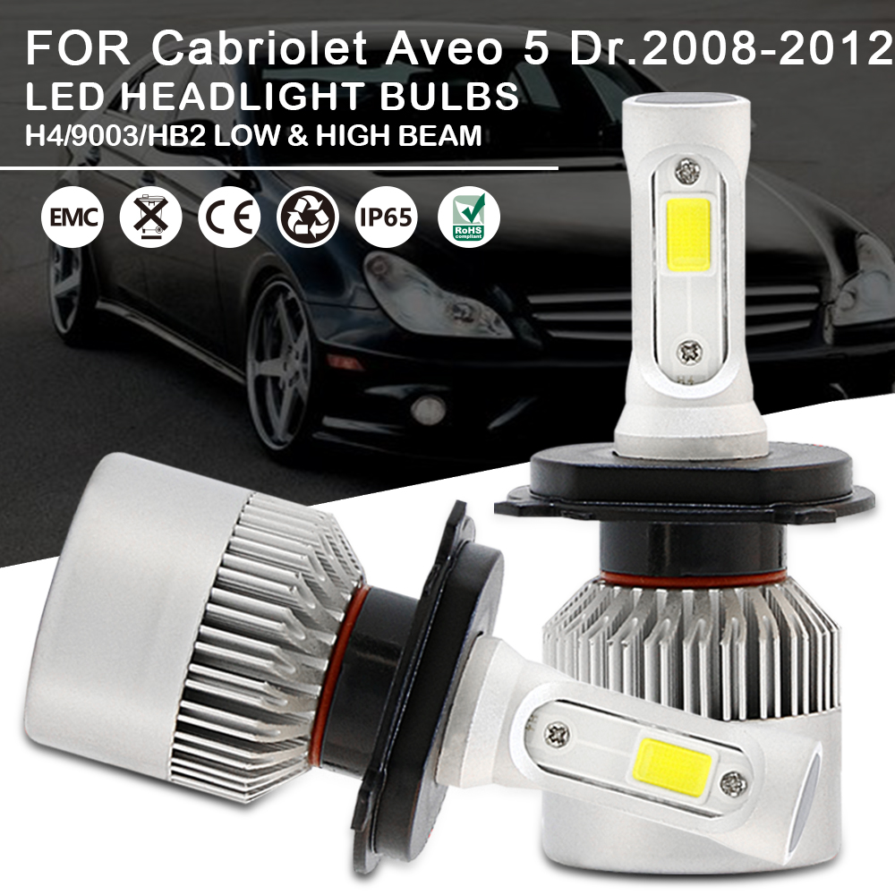 2x LED Headlight Bulbs Kit H4 9003 HB2 High Low Beam For
