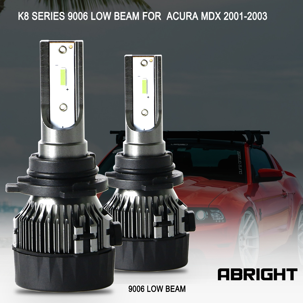 LED Headlight Bulbs CSP CHIPS 9006 HB4 Low Beam For Acura