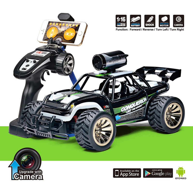 Details about Rc Remote Control Cars with FPV WiFi Camera HD 720P 1/16  Scale 2 4Ghz Rc Trucks