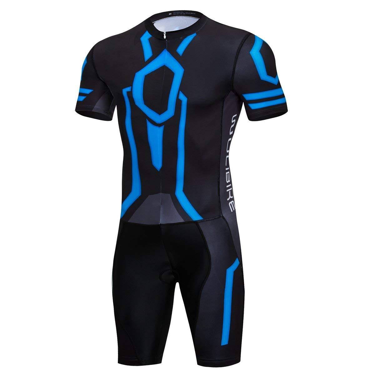 Men s Triathlon Tri Suit Short Sleeve Cycling Suit Skinsuit  2207615c8