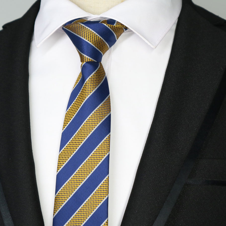 new 6cm mens skinny tie stripes Plain patterns man necktie wedding party Blue