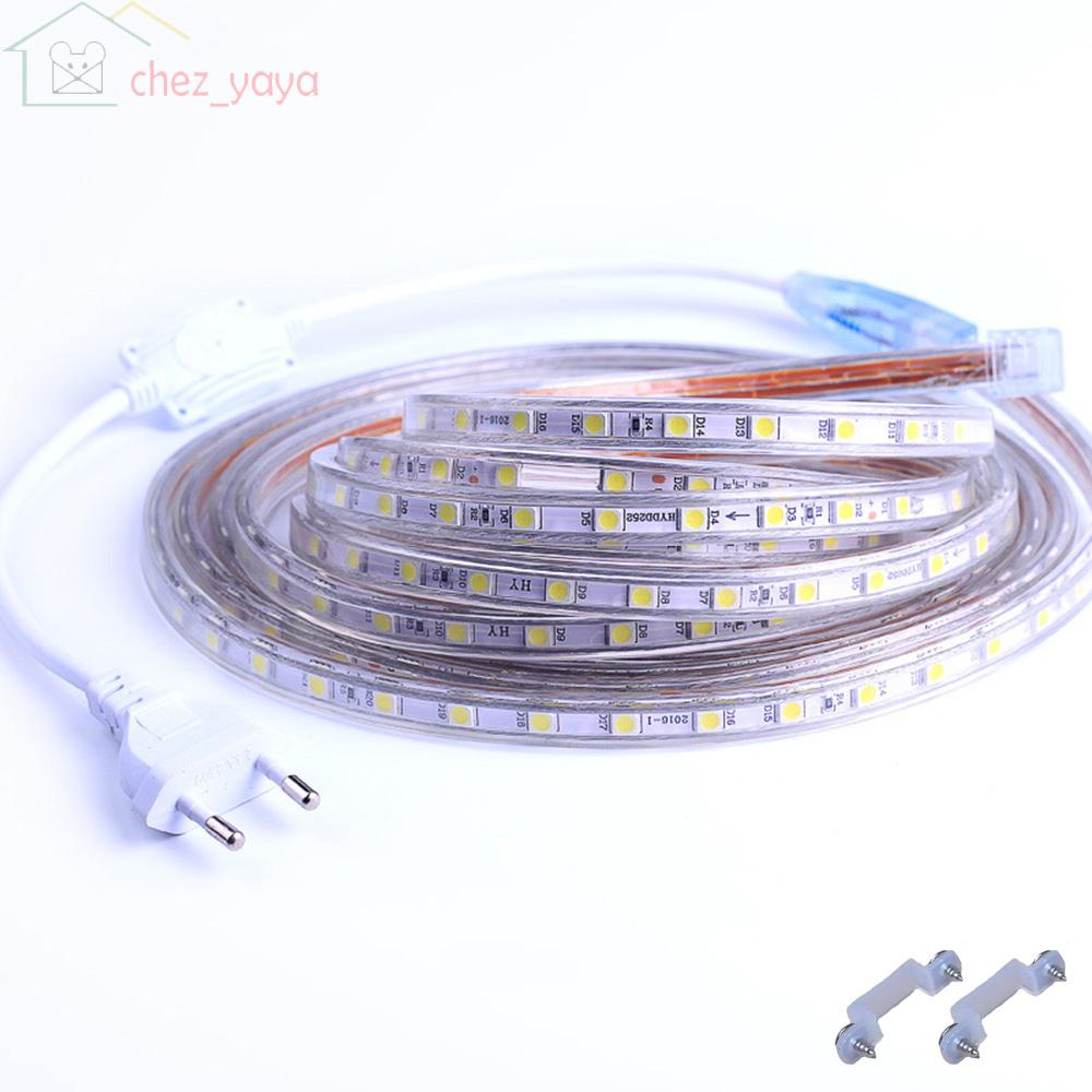 1m 25m 230v led streifen lichtband schlauch beleuchtung warmwei kaltwei wei ebay. Black Bedroom Furniture Sets. Home Design Ideas