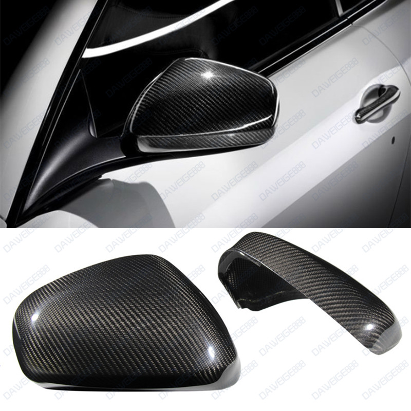 Dry Carbon Fiber Side Mirror Cover for 13-16 Maserati Ghibli Quattroporte Sedan
