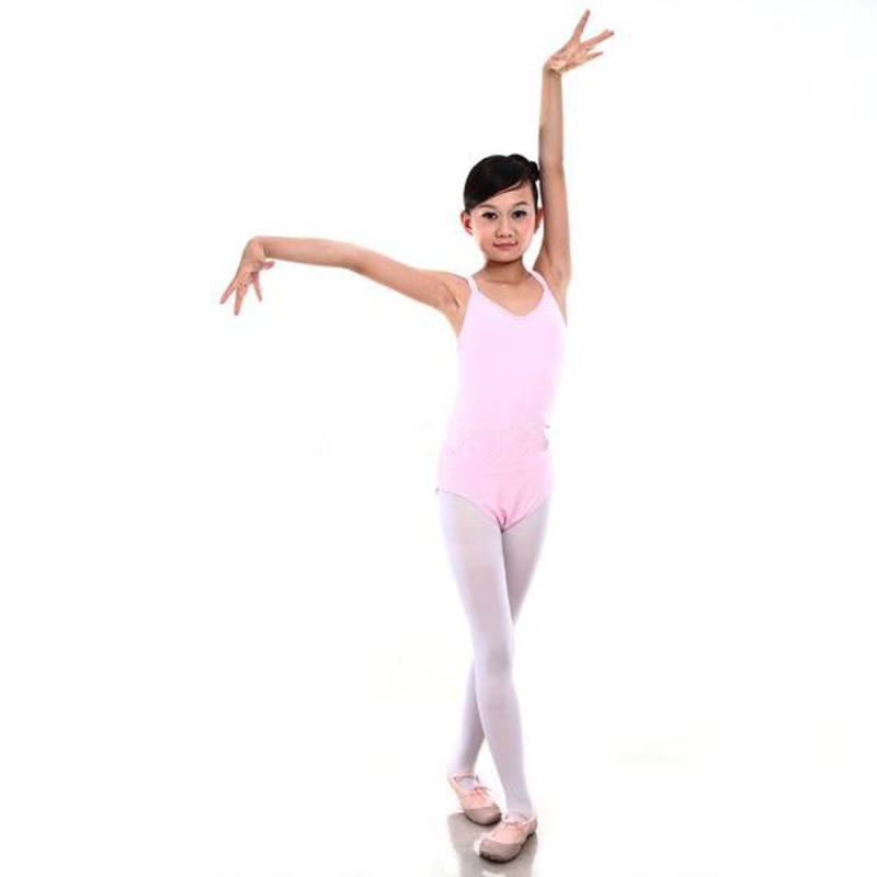 bf7194420 Kids Girls Leotard Lace Ballet Dance Costume Sleeveless Dancewear ...