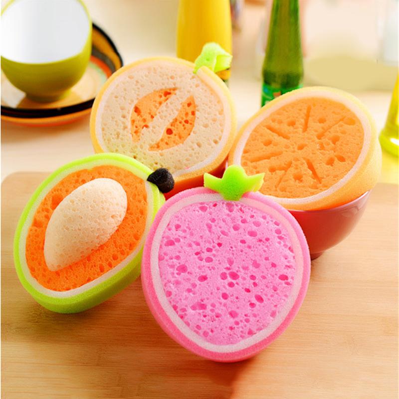 1PC Magic Foam Sponge Silicone Scrub Wipe Brush Clean Wash Dish Cup Household