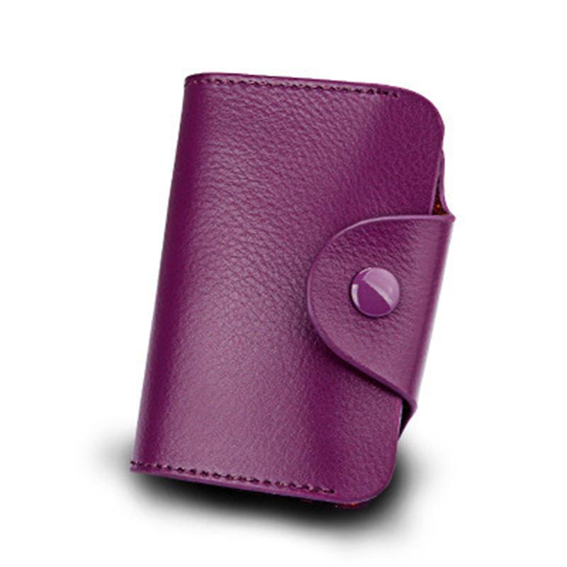 Unisex Leather Wallet Blocking Pocket Holder Credit Card Case Men Women Hots #tr