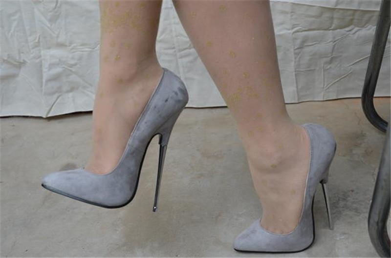 8eb2dcacd8d4 Women s 16CM Super High Sexy Nightclub High Heels Shoes Pointed Toe  Stilettos