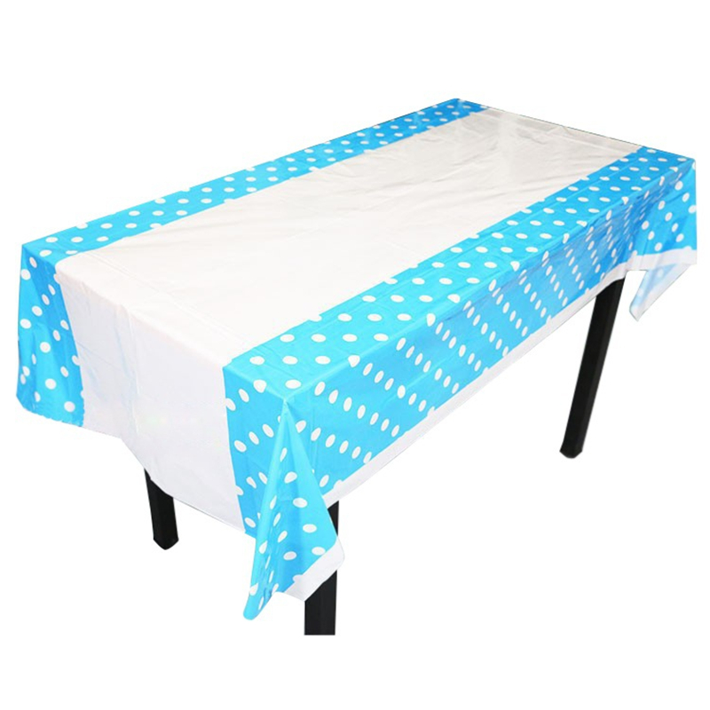 New 108 180CM Polka Dots Party Plastic Table