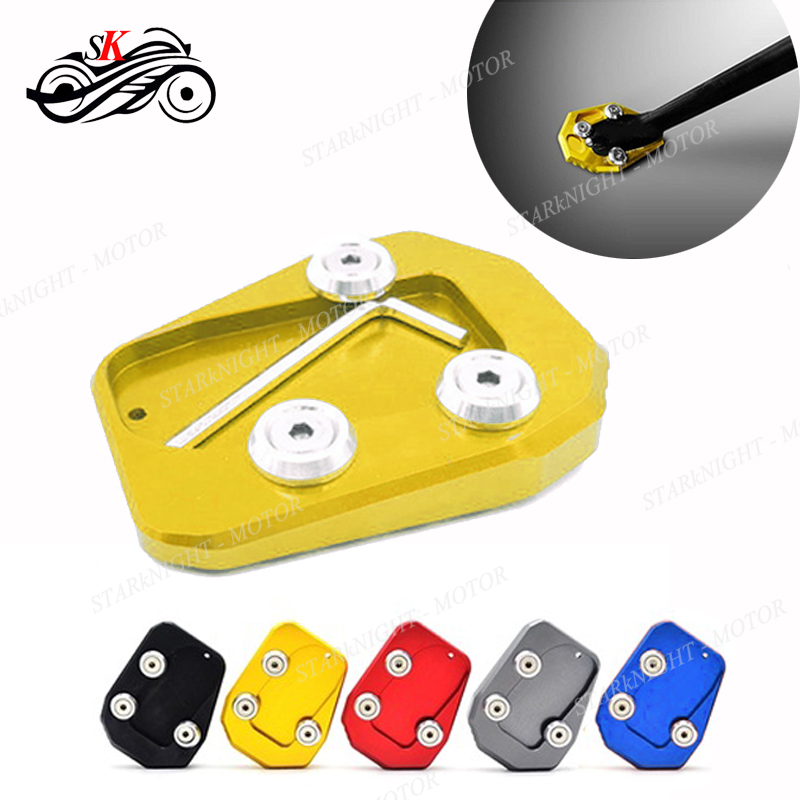 New Motorcycle Kickstand Plate Side Stand Foot Enlarger Foot Extension Pad for Yamaha MT07 2014-2018 Gold