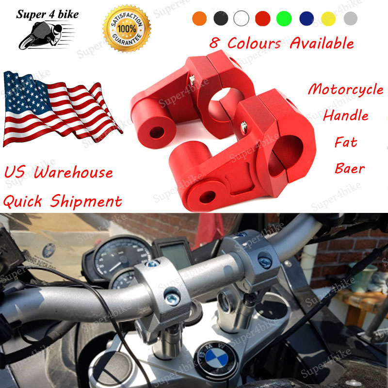 Handle Fat Bar Mount Clamp Risers For BMW R1200GS 2004-2012 Black 22mm 28mm 56