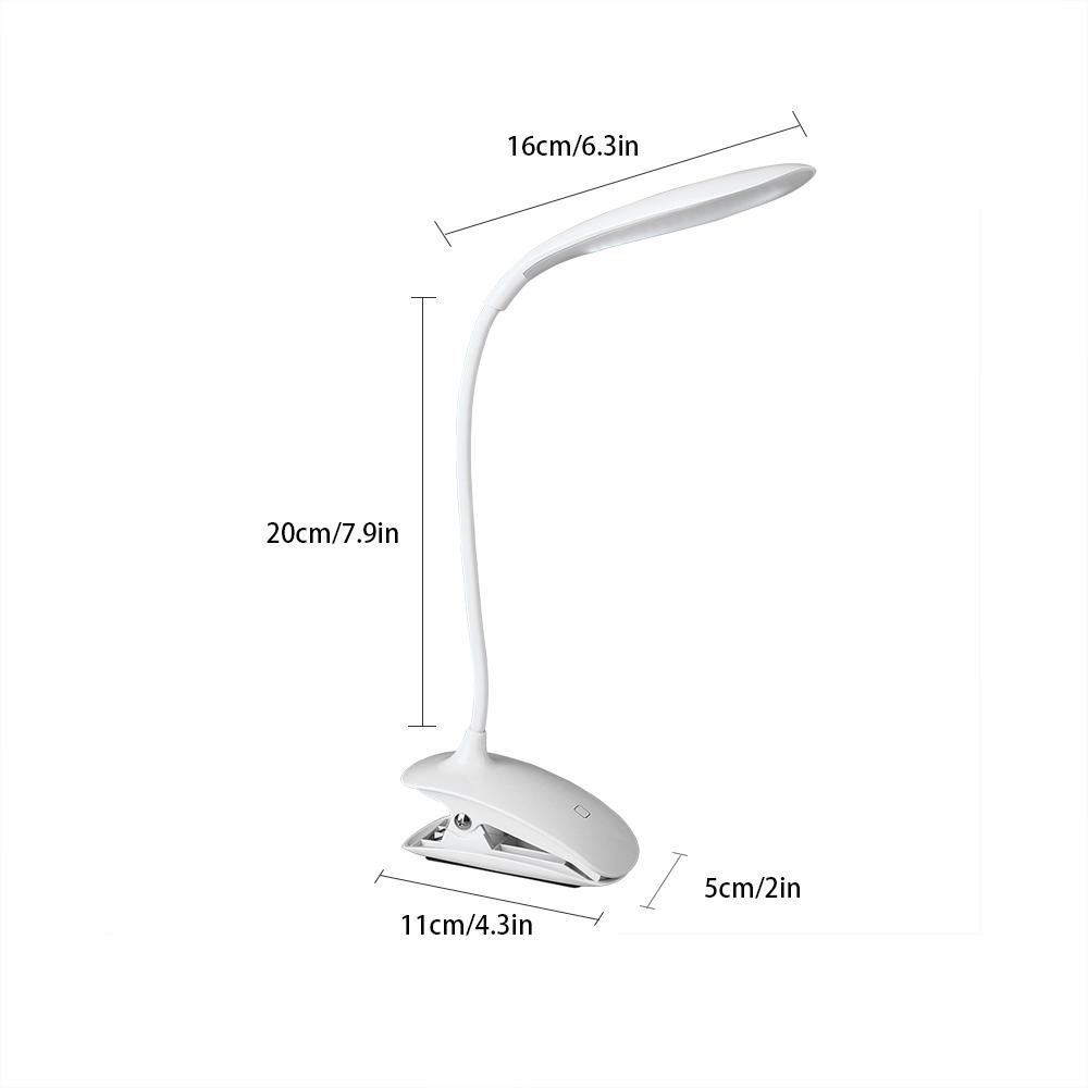leselampe klemmleuchte 16 led schwanenhals lampe zum klemmen deko beleuchtung ebay. Black Bedroom Furniture Sets. Home Design Ideas