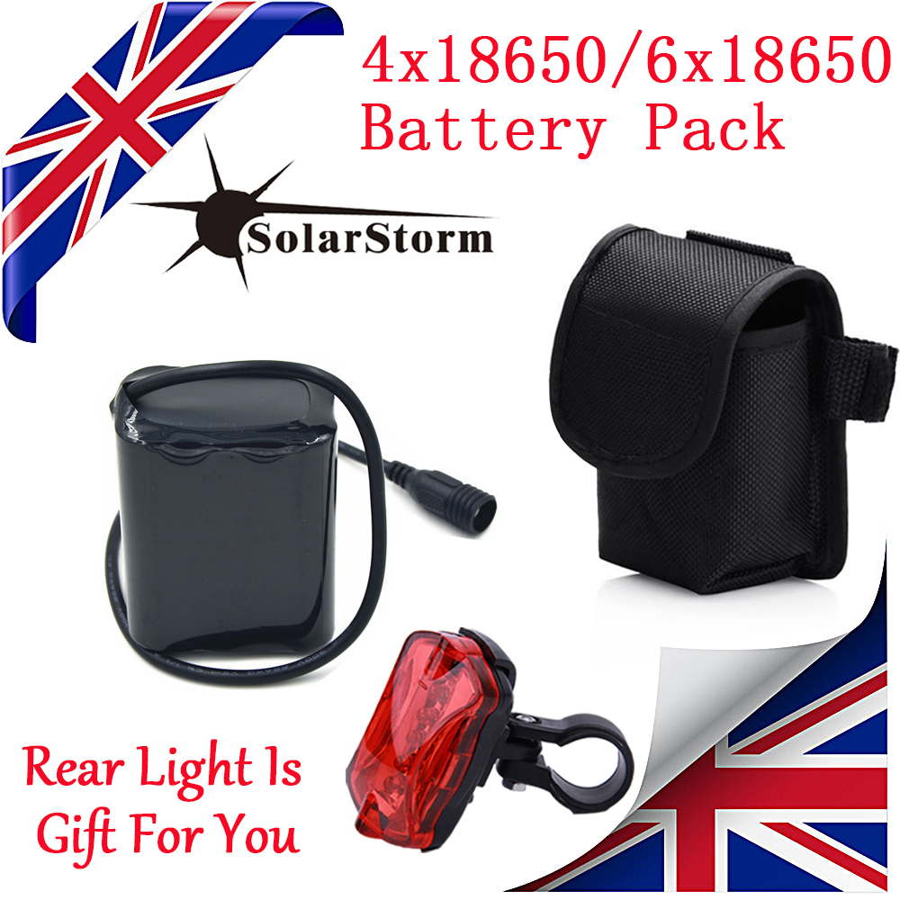 18650 Battery Pack For  SolarStorm X2 X3 Cree XML T6 Bicycle Bike Light Headlamp