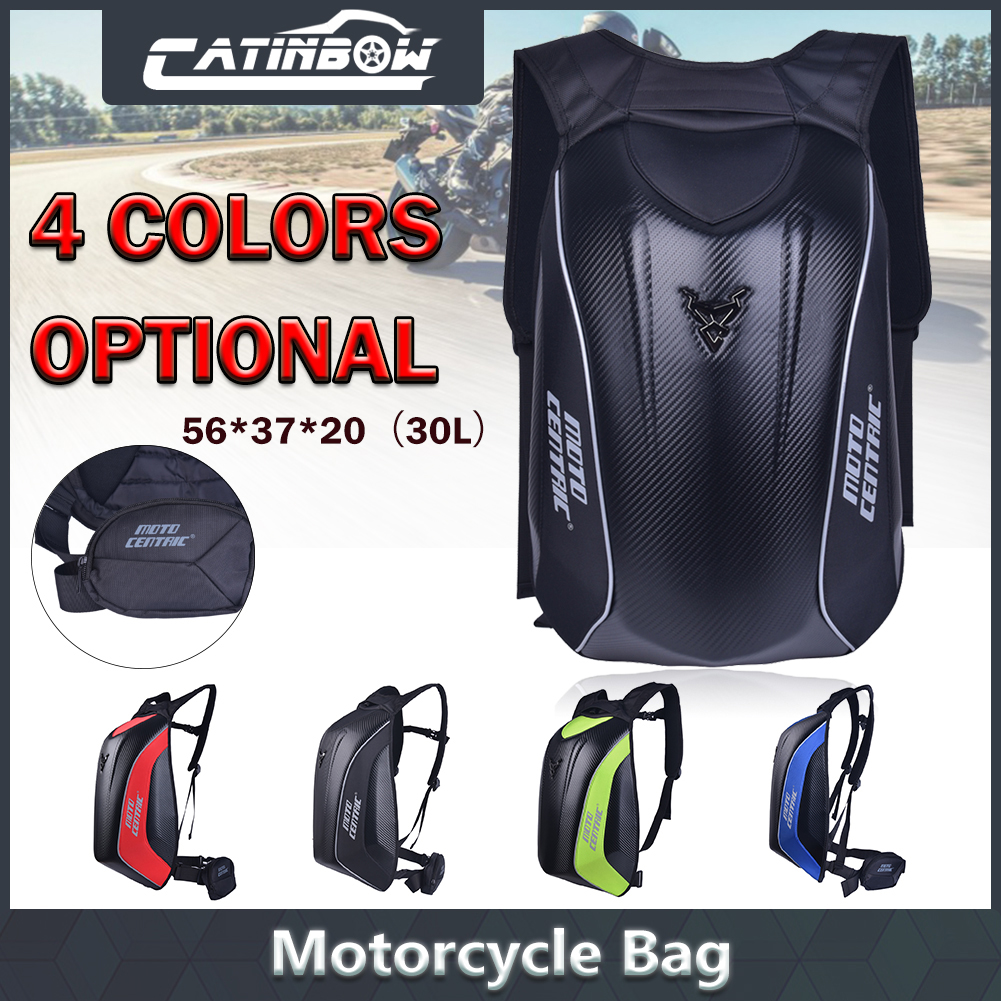 e18afc2bfc0b Details about Motorcycle Backpack Carbon Fiber Nylon Motocross Riding  Racing Storage Bags 30L
