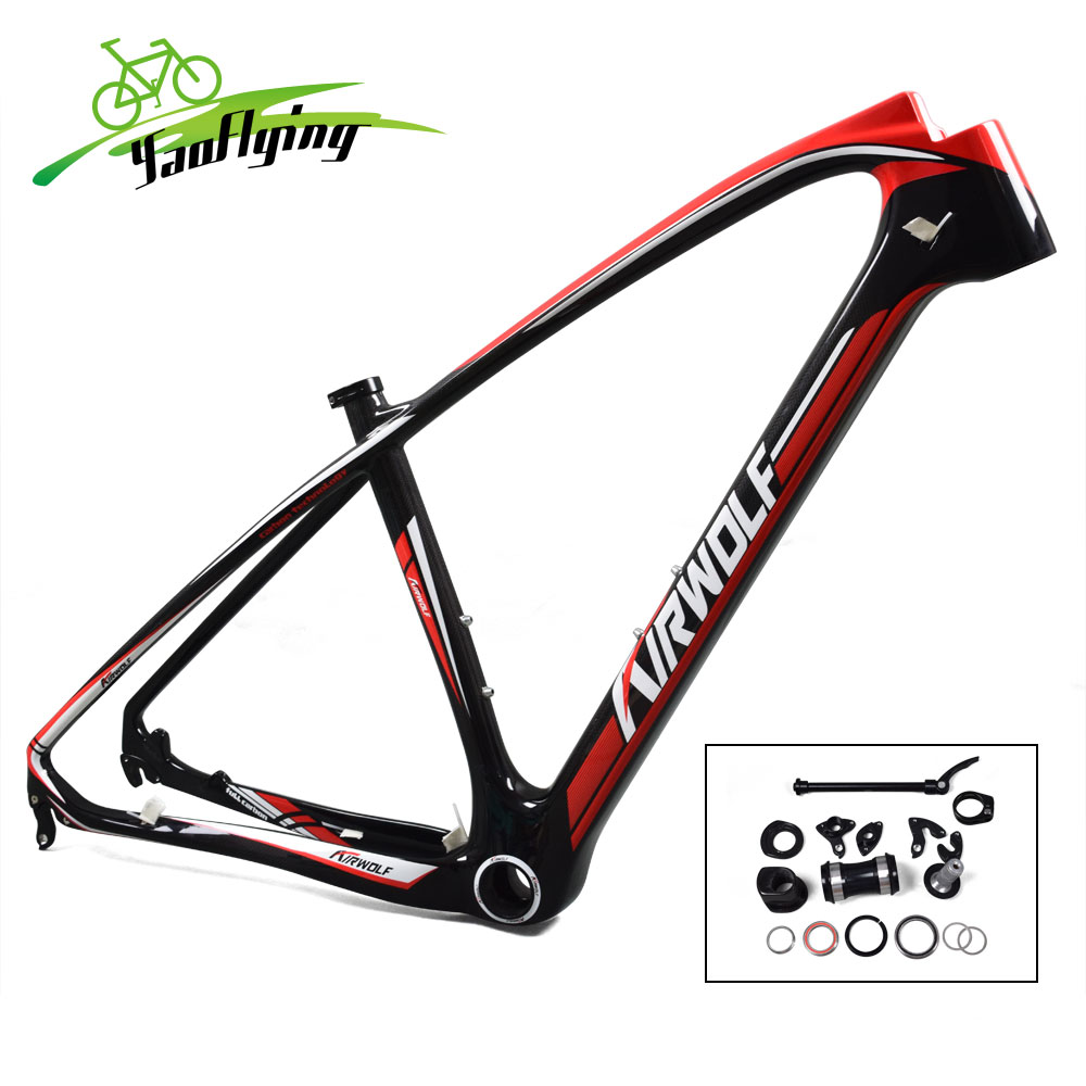 Red Painting T1000 Mountain Bike Frame Carbon Fiber MTB Bicycle ...